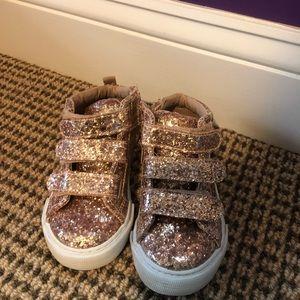 Gap Glitter high tops little girl size 7 EUC $10